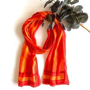 Liz Claiborne Vintage Vibrant Long Silk Scarf